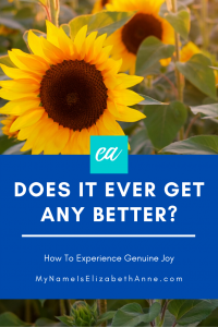 how to experience genuine joy when you keep asking does it ever get any better