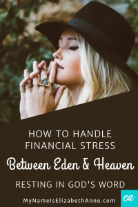 The Cure for Financial Stress My Name is Elizabeth Anne